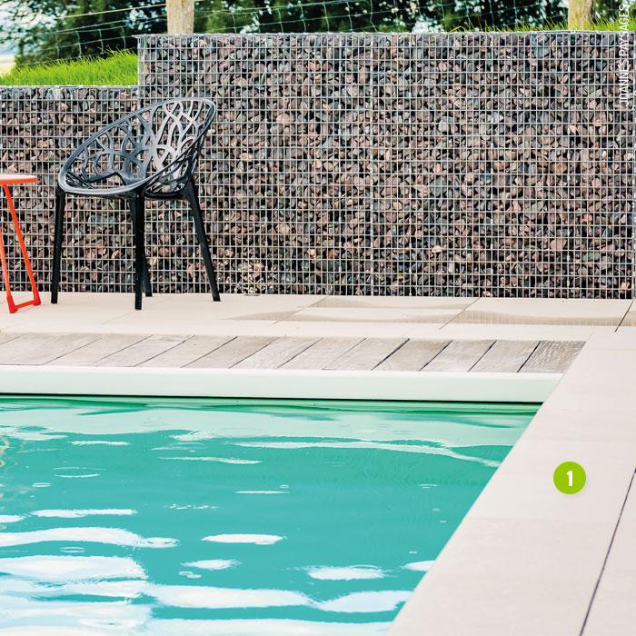 Margelles piscine granit rouge dalles pav s opus for Piscine selestat