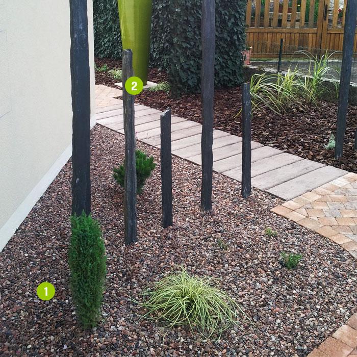 Piquets en ardoise brute dalles pav s opus parement for Piquet ardoise jardin