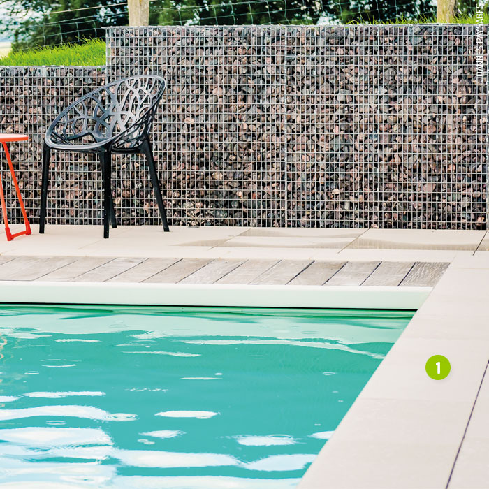 Margelles piscine beautiful kit pices finition alu pour for Piscine en granit